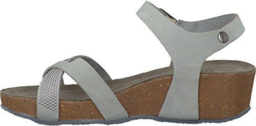 Tamaris11 28219 34 240 - Sandalias de Punta Descubierta Mujer Gris - gris claro (grey 801)