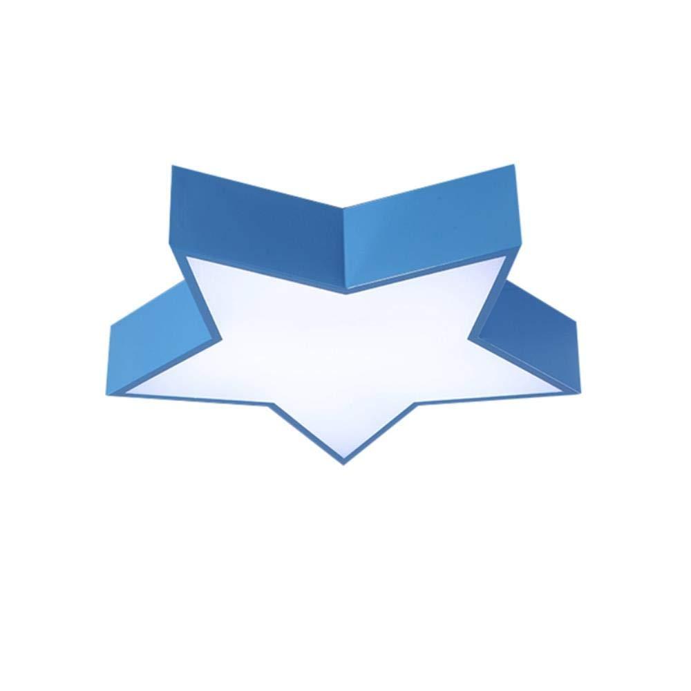 Azul blanco puro Dia.60cm Cwill Macaron luz de techo colores estrella hierro l/ámpara cuerpo acr/ílico pantalla vest/íbulo ni/ños habitaci/ón l/ámpara de techo accesorio de iluminaci/ón LED Promoci/ón