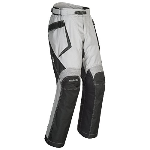 (Cortech Sequoia XC Men's Textile Street Motorcycle Pants - Grey/Black / Large)