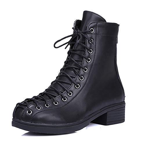 Spitze Schuhe Weiche Frauen Wilde Große Schuhe Lässige Stiefel Herbst Damenstiefel Mode Stiefel Boden KUKI Chelsea Hohe x0gvwOq