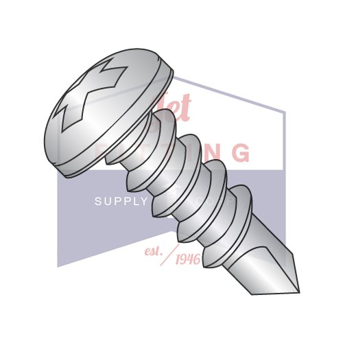 4-24X3/8 Self-Drilling Screws | Phillips | Pan Head | 18-8 Stainless Steel (QUANTITY: 10000) by Jet Fitting & Supply Corp