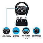 Logitech-G920-Driving-Force-Racing-Wheel-and-Floor-Pedals-Real-Force-Feedback-Stainless-Steel-Paddle-Shifters-Leather-Steering-Wheel-Cover-Adjustable-Floor-Pedals-UK-Plug-Xbox-OnePCMac-Black