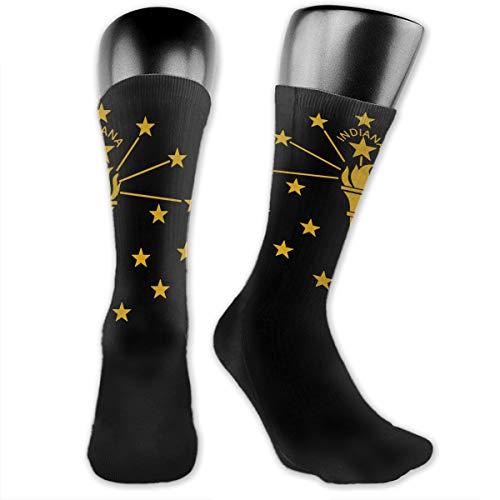 Indiana State Flag Unisex Crew Socks Sports Socks Athletic Socks Hiking Socks