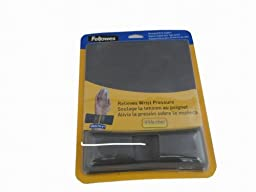 Fellowes Mouse/Wrist Support with Microban Protection, Gel, Graphite (9184001)