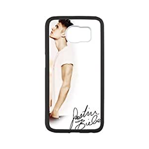 Zyhome Galaxy S6 Sunshine Boy Justin Bieber Signed Poster Pattern Case Cover for Samsung Galaxy S6 (Laser Technology)