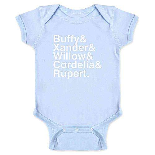(Pop Threads Buffy & Xander & Willow & Cordelia & Rupert. Light Blue 6M Infant Bodysuit)