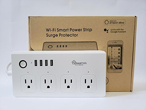 Smart Power Strip Works with Alexa and Google Home, SMARTYFI USB Power Strip and Smart Surge Protector, No Hub Required, Smart Life App, Multi Outlet Wifi Surge Protector with 4 AC and 4 USB Ports by SMARTYFI (Image #5)