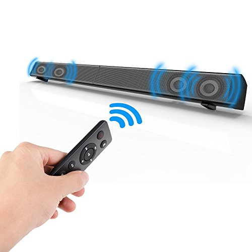 Soundbar, Elecder 2.0 Channel Wired and Wireless Bluetooth T