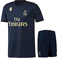 Real Madrid Away Jersey with Shorts 2019-20 Champion Badge ON Jersey