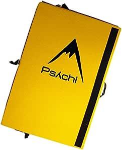 Psychi - Colchoneta de 2 Paneles para Escalar - para Escalada en Bloque y Tradicional - con Asas de Transporte