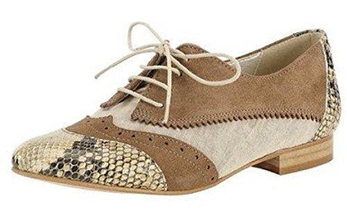 ville lacets Best Schnürer à Chaussures Connections pour de Taupe femme RSgP4Uq