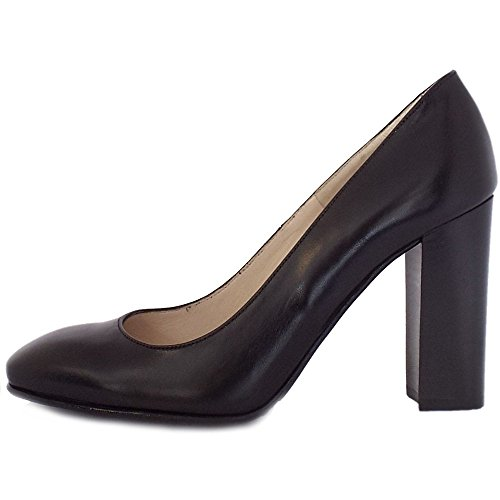 Peter Kaiser Court with Chunky Heel Sandy Black Rs31rTK