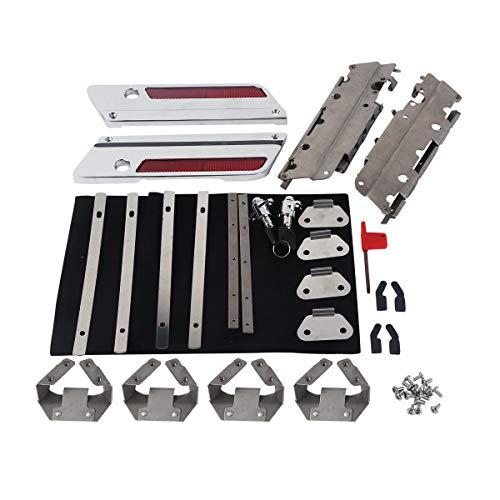 TCMT Hard Saddlebag Hardware Latch Lock Hinges Kit Fits For Harley Road Street Glide 93-13