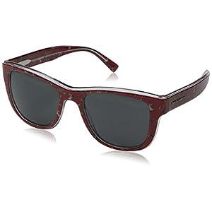 Dolce & Gabbana Men's Acetate Man Square Sunglasses, Red Birds, 54 mm