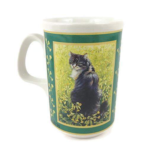 Cat Among the Wildflowers & Daffodils Stoneware Mug