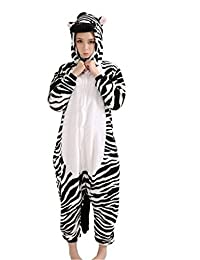 FashionFits Unisex Zebra Animal Onesie Unisex Pajamas Jumpsuit Cartoon