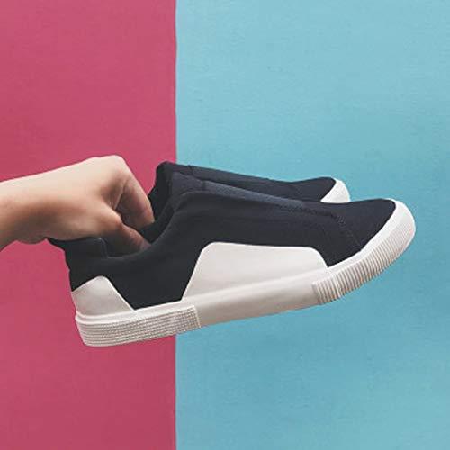estiva uomo uomo tendenza Size Scarpe scarpe tela Bianca di selvaggia da di scarpe denim scarpe WangKuanHome 41 Color Black da tela casual qatAIxqOw