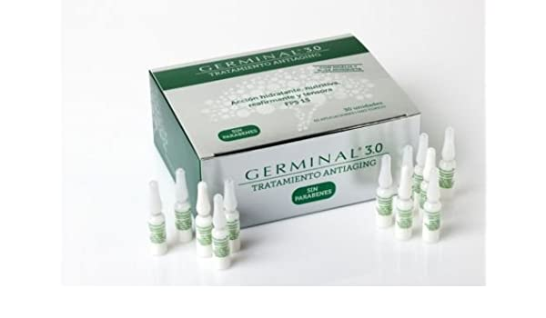 Amazon.com: NUEVO GERMINAL 3.0 TRATAMIENTO ANTIAGING 30 AMPOLLAS Great Skincare: Beauty
