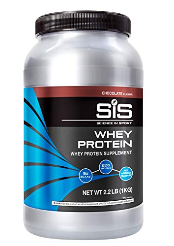 SCIENCE IN SPORT Whey Protein Powder, 22g Protein, 5g BCAAs, 2.5g Leucine, Increases Rate of Muscle Protein Synthesis, Low Carb, Maintenance & Growth of Lean Muscle Mass, No Sugar, Chocolate, 2.2lbs