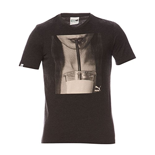 SC BRAND-Camiseta de manga corta, diseño de S, color negro