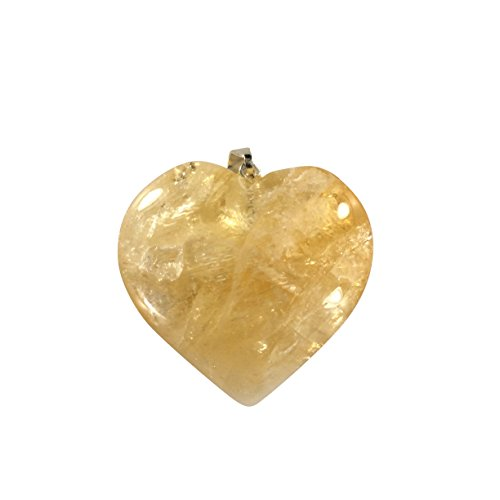 Citrine Heart Shaped Pendant - Crystal Clear Miracles Healing - Powerful Blessing - Hand Faceted Natural Stone