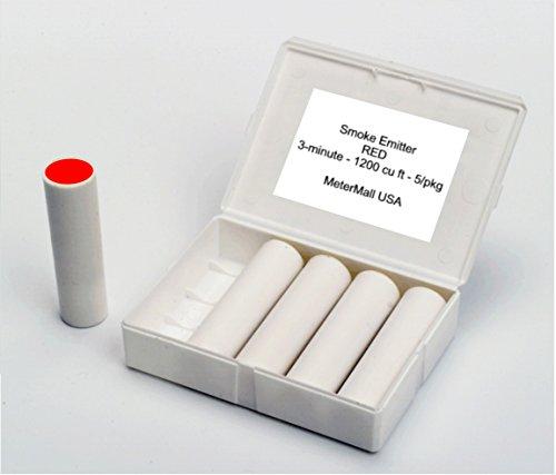 MeterMall S104R RED Colored Smoke Emitter Cartridges, 3-4 min, 1200 cu - Smoke Red