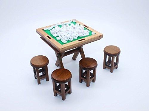ChangThai Design Vintage Mahjong Set Dollhouse Miniature Full set - Vintage Mahjong