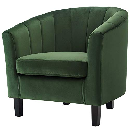 America Luxury - Chairs Modern Contemporary Living Room Lounge Club Lobby Tufted Armchair Accent Chair, Velvet Fabric, Green