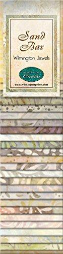 Wilmington Prints Strips Jewels Sand Bar Bundle Fabric, 2...