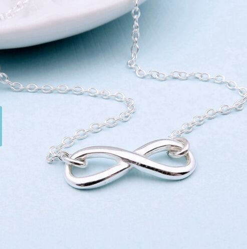 Sterling Infinity Necklace Friendship Eternity