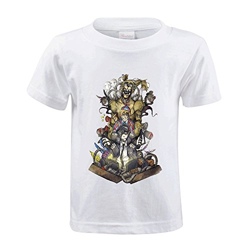 Toypop Five Nights At Freddy's Scott Cawthon Youth Cotton O T Shirt DIY White