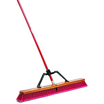 Amazon Com Super Sweep 48 Inch Maroon Poly Broom Home