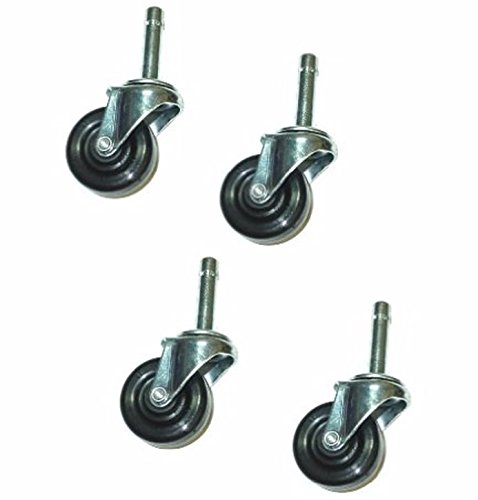 Set of 4 General Duty Swivel Stem Casters with 2