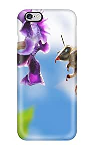 Case Cover Bee On Flower Widescreen/ Fashionable Case For Iphone 6 Plus