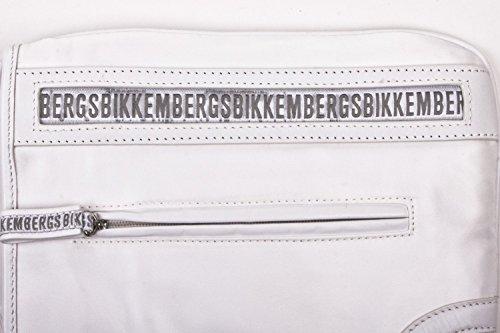 Bikkembergs - Bolso al hombro de cuero para mujer blanco blanco B/H/T in cm: 22-27,5-1