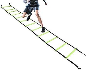 Kosma agilidad velocidad Escalera de formación rápida movientos de 6 metros de largo con bolsa de transporte | Escalera de velocidad para el fútbol: Amazon.es: Deportes y aire libre