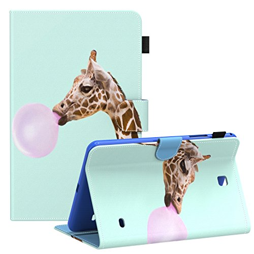 - Galaxy Tab 4 8.0 inch Smart Shell Case, Dteck(TM) Stand Soft TPU Flip Case Wallet Cover with Auto Wake/Sleep Feature Cover for Samsung Galaxy Tab 4 8.0 inch SM-T330 T331 T335 T337A Tablet,Giraffe