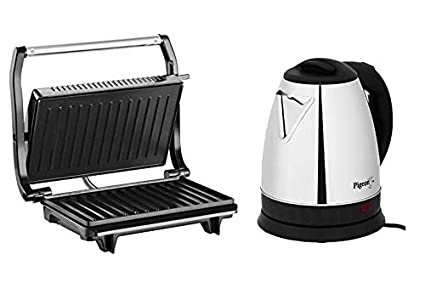 Pigeon Breakfast Combo [2 Slice Electric Griller and Stainless Steel Electric Kettle 1.5 L]