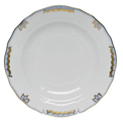 Blue Light Porcelain (Herend China Princess Victoria Light Blue Dessert Plate)