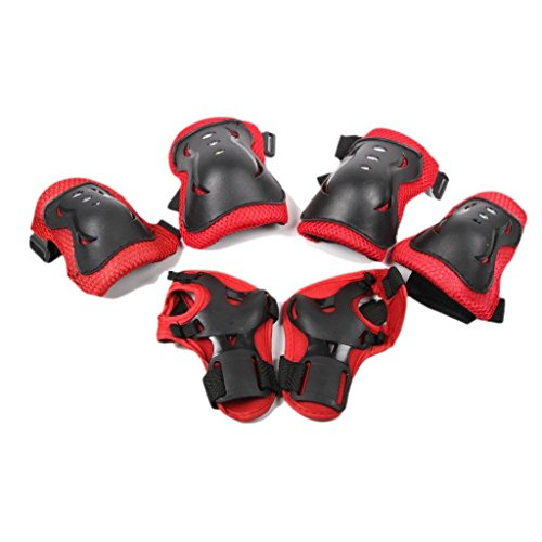 Best Prices! 6 PCS Kids Cycling Roller Skating Biking Safety Guard Pads Kneel/ Wrist/ Elbow Protecti...