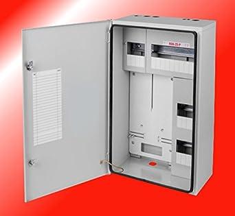 Contador de armario caja de fusibles de corriente resistente al agua caja de conexiones 1 x 3 fases contador de fusibles de{25} acero galvanizado: Amazon.es: Iluminación
