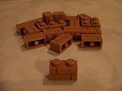 Modified 1 x 2 with Masonry Profile Brick Profile LEGO x 20 Dark Red Brick