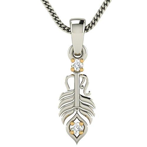 Avsar 18KT White Gold and Diamond Pendant for Women
