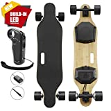 Premium Electric Skateboard & Longboard with Remote Controller, Build-in LED Lights, 350Watt Brushless Dual Motors & 264 Lbs Max Load