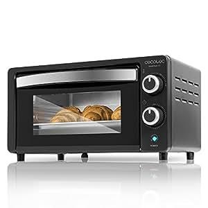 Cecotec Bake&Toast 450 Horno Eléctrico de Sobremesa, Capacidad de 10 litros, 1000 W, Negro