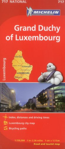 Michelin Luxembourg, Grand Duchy Map 717 (1:150K) (Maps/Country (Michelin))