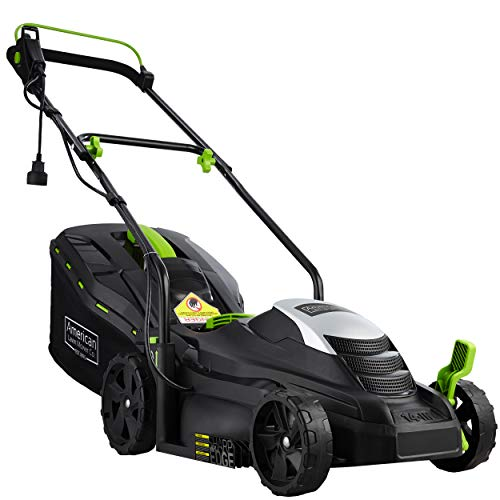 American Lawn Mower Company 50514 14-Inch 11-Amp Corded Electric Lawn Mower, Black (Best Small Gas Lawn Mower)
