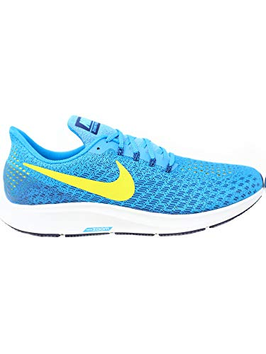 Nike Men's Air Zoom Pegasus 35 Blue Orbit/Bright Citron Ankle-High Mesh Running Shoe - 6.5M by Nike (Image #3)