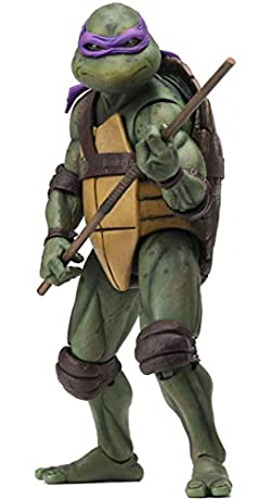 Teenage Mutant Ninja Turtles 90's Movie Donatello 6.5-inch Action Figure by NECA Reel Toys 2019 GameStop Exclusive