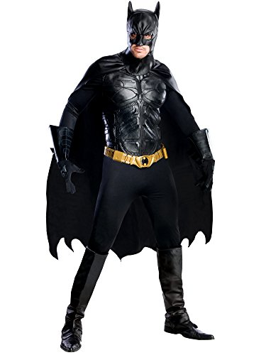 Rubie's Men's The Dark Knight Rises Deluxe Batman Costume, Black, Medium ()